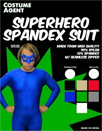 Superhero Spandex Suit Label