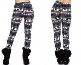 Black and Navy Christmas Leggings
